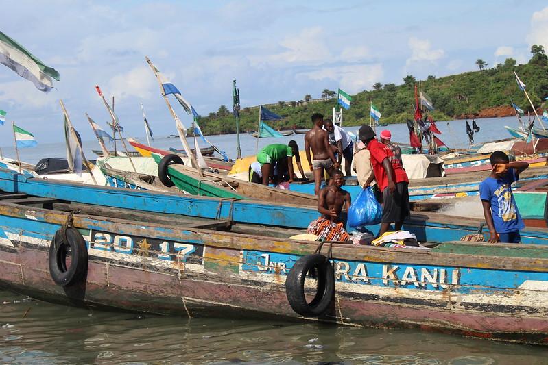 Tombo Fishing Wharf in Freetown, Sierra Leone